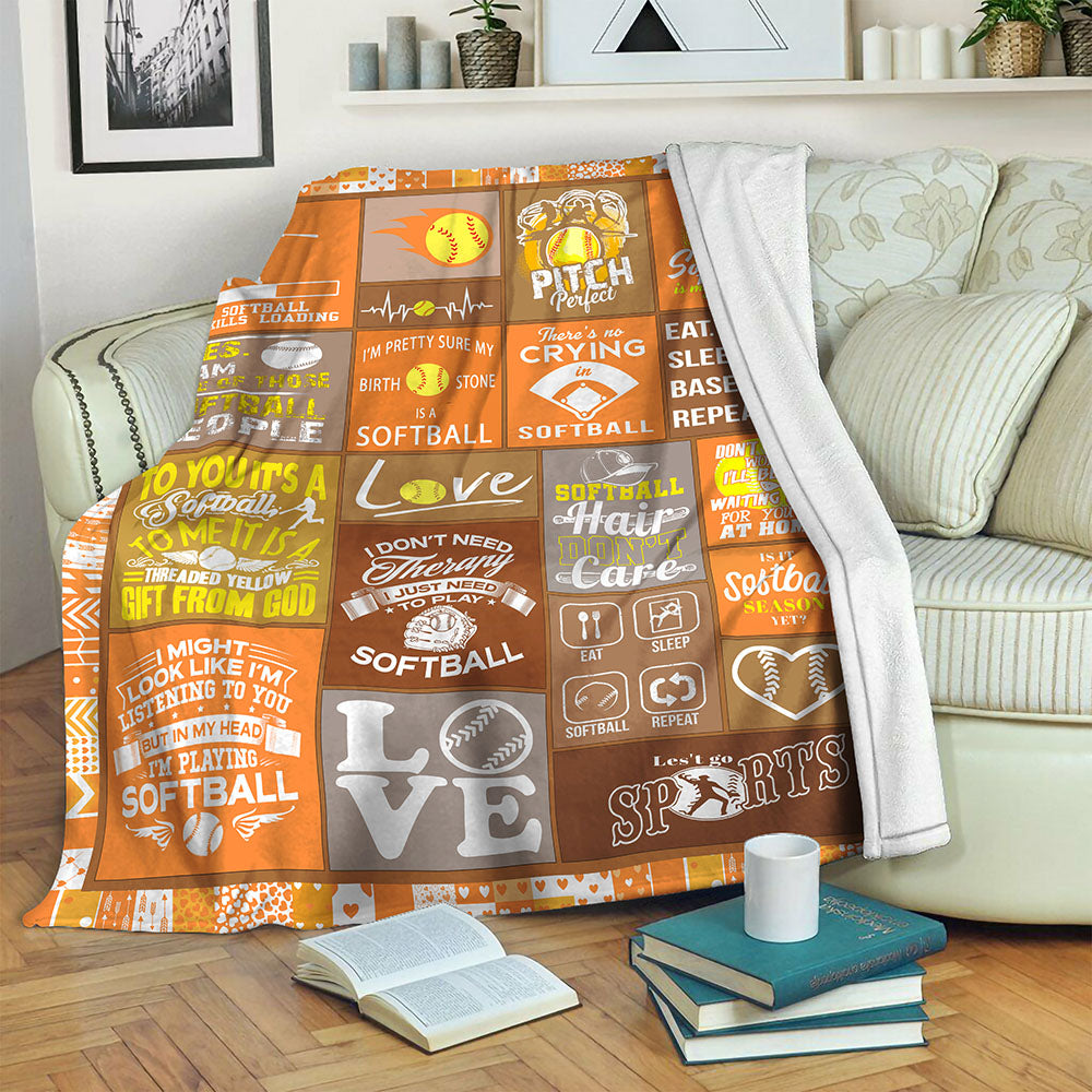 Softball TVH16101198 Fleece Blanket