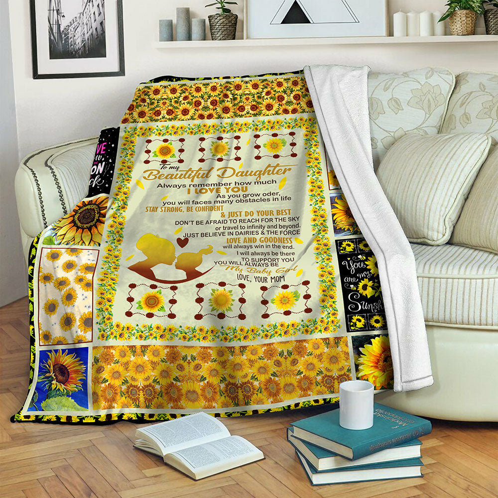 Sunflower Fleece Blanket CCC19103420