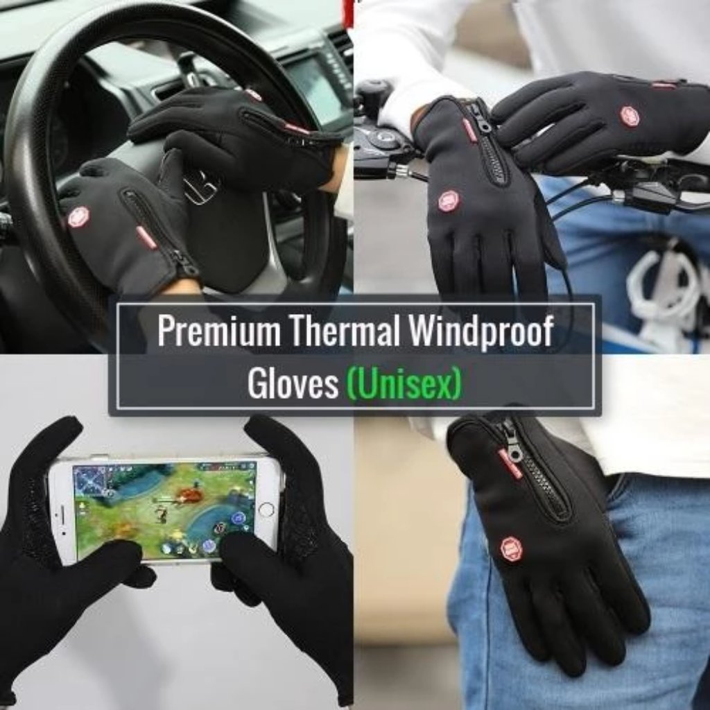 TheProof™ - Premium Thermal Windproof Gloves (Unisex) - Black / XL - Nestzones