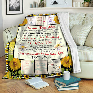 To My Daughter Loving You Fleece Blanket CCC19103845