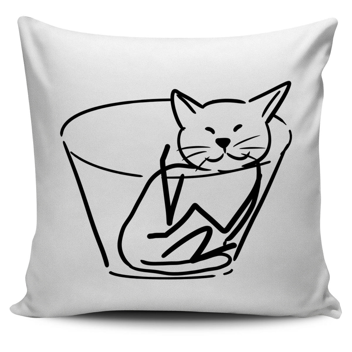 Chilled Cat white Pillow
