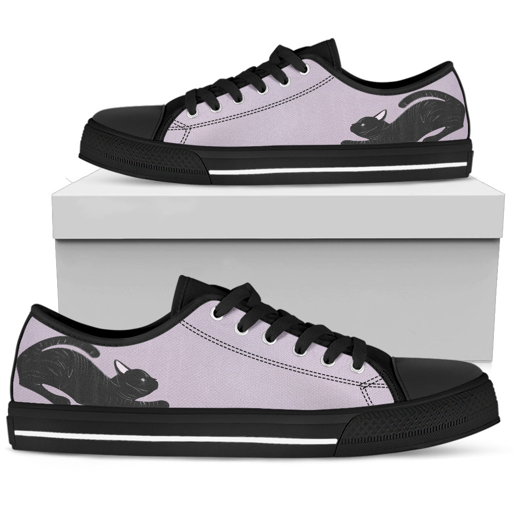 Cat Purple Women's Low Top Shoe