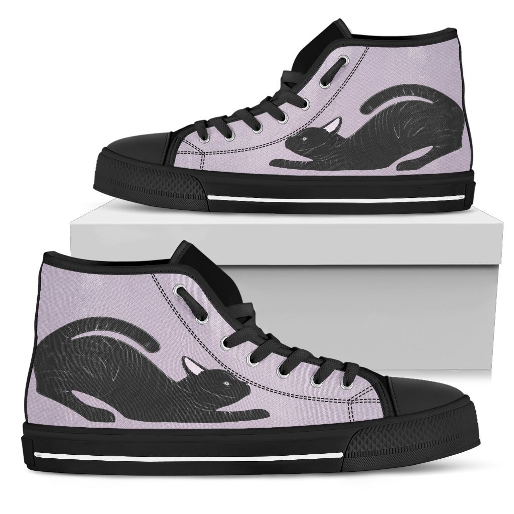 Black cat Women's High Top