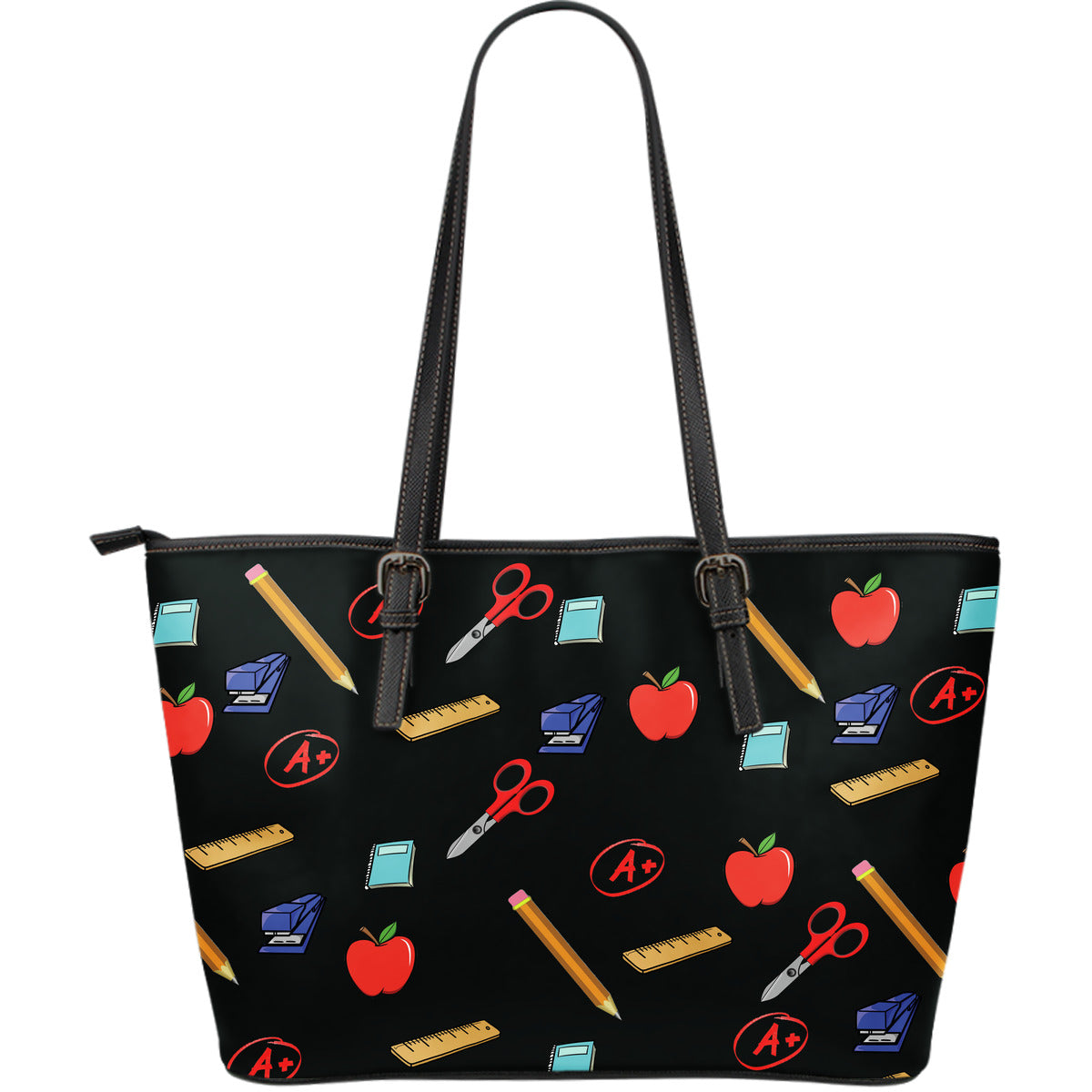 Teacher Appreciation Large Leather Tote Bag