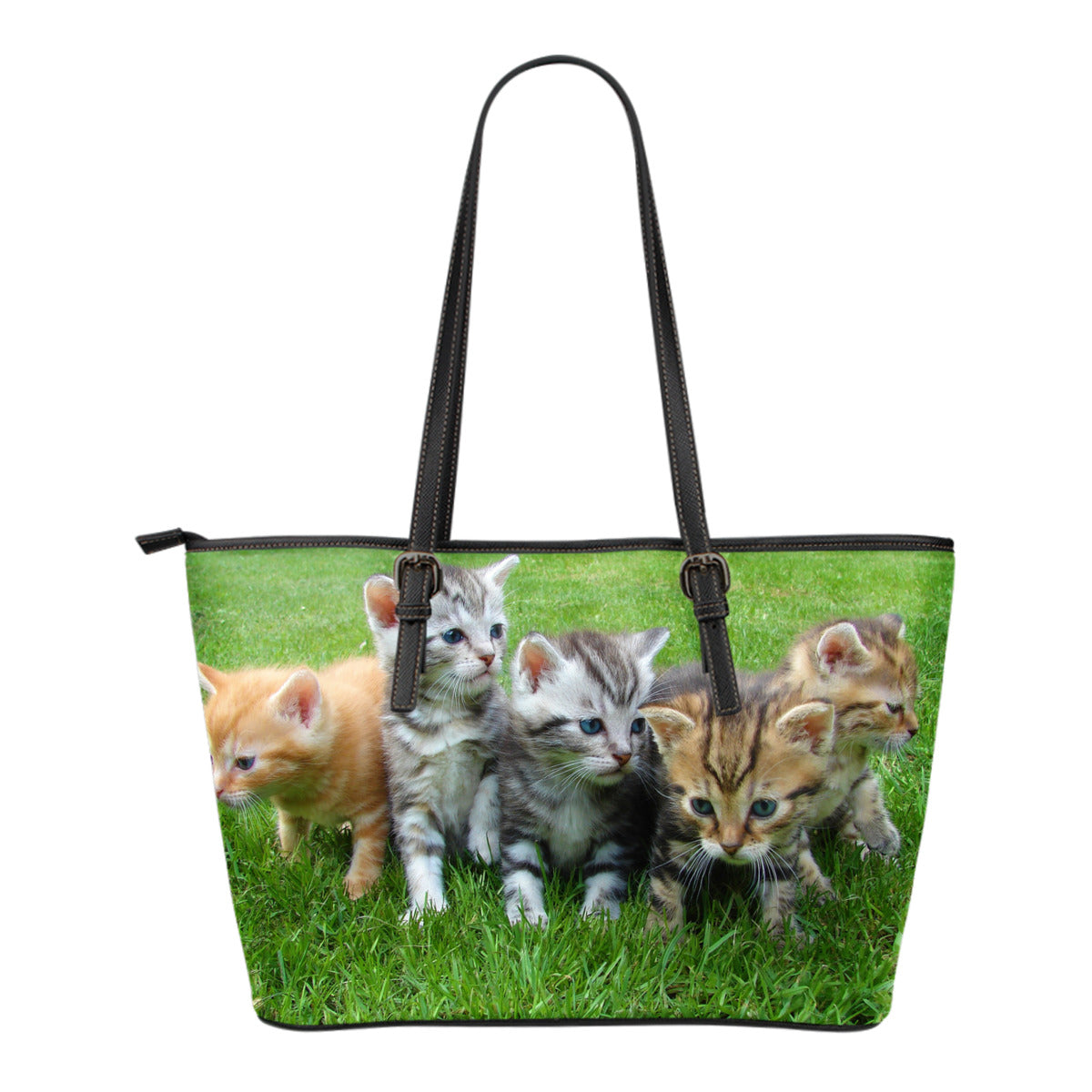 Cat Tote Bag - Small Leather Tote