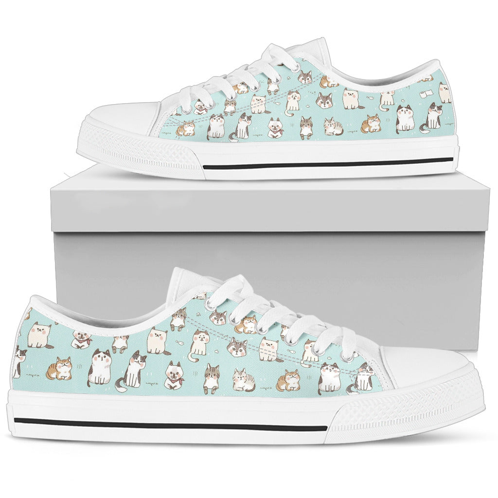 Cat Pattern Women's Low Top Shoe