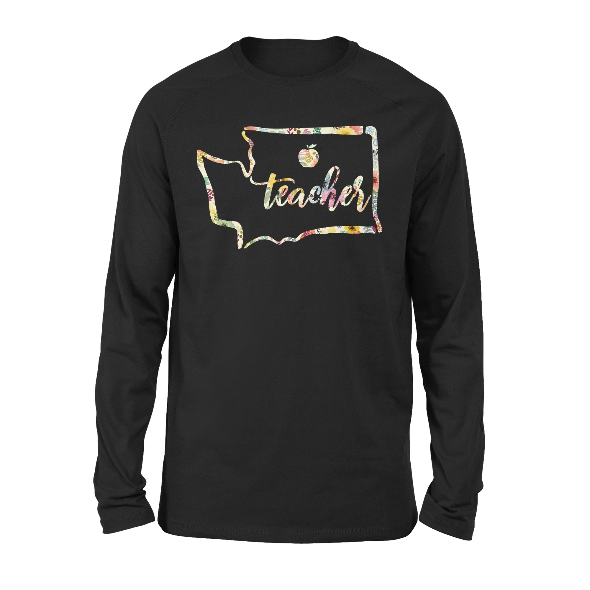 VIRAwashington state map Premium Long Sleeve for awesome teachers