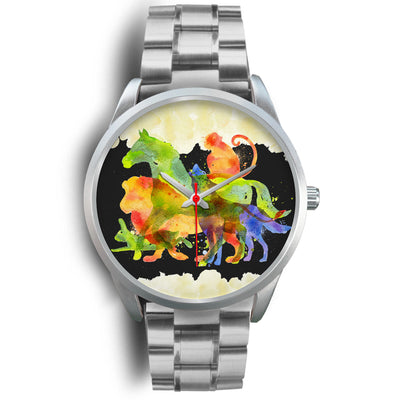 Animals Overprint Horse Stainless Steel Watch