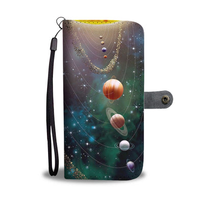 VIRA Leather - like Wallet Case For Solar System Lovers