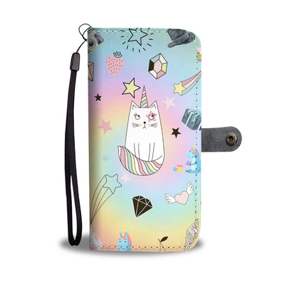 VIRA Leather- like Wallet Case For Unicorn Lovers