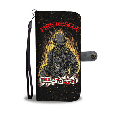VIRA LEATHER -LIKE WALLET CASE FOR FIRE RESCUE LOVERS