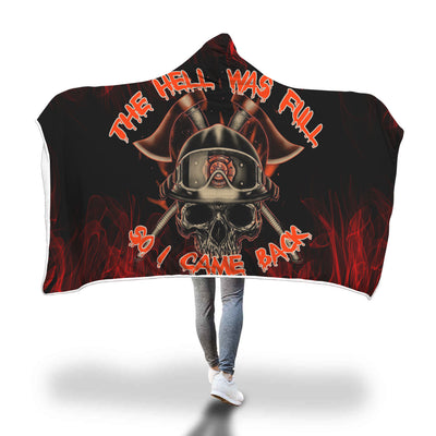VIRA COZY HOODED BLANKET FOR FIREFIGHTER CAME BACK FROM HELL