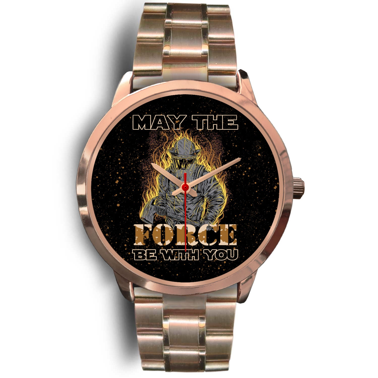 VIRA ROSE GOLD STAINLESS STEEL WATCH FOR FIREFIGHTER
