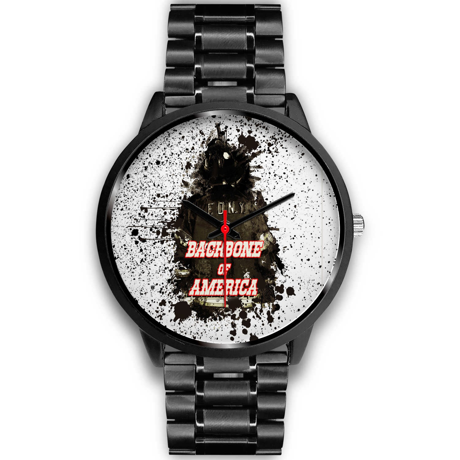 VIRA STAINLESS STEEL WATCH FOR FIREFIGHTER LOVERS