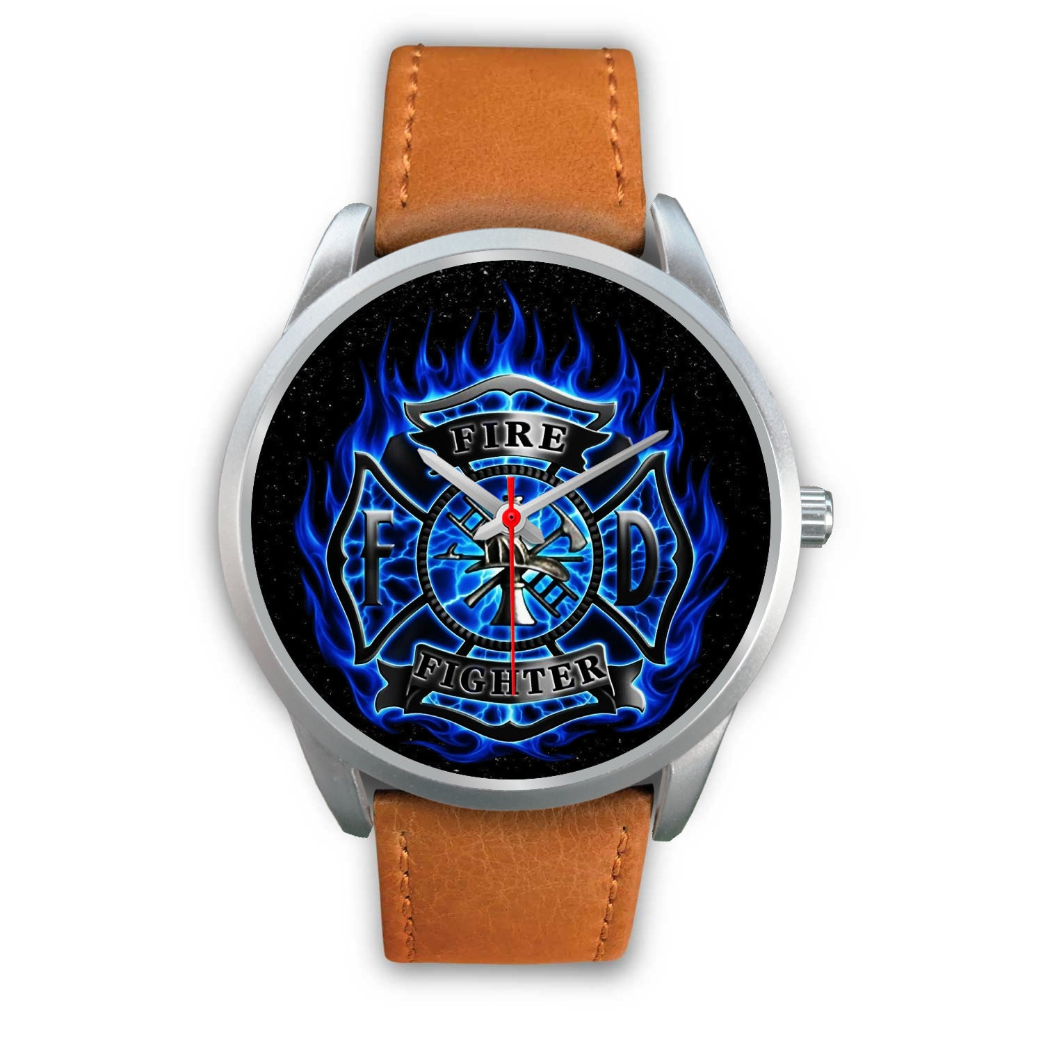 VIRA REAL LEATHER WATCH FOR FIREFIGHTER LOVERS