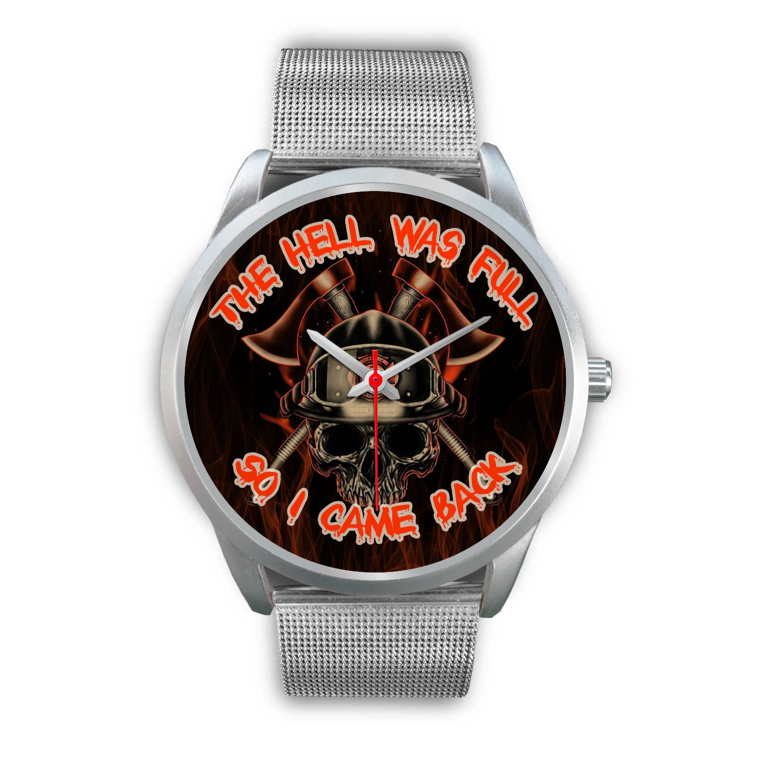 VIRA SILVER METAL WATCH FOR FIREFIGHTER LOVERS