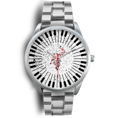 VIRA Piano Silver Stainless Steel Watch For Awesome Teachers