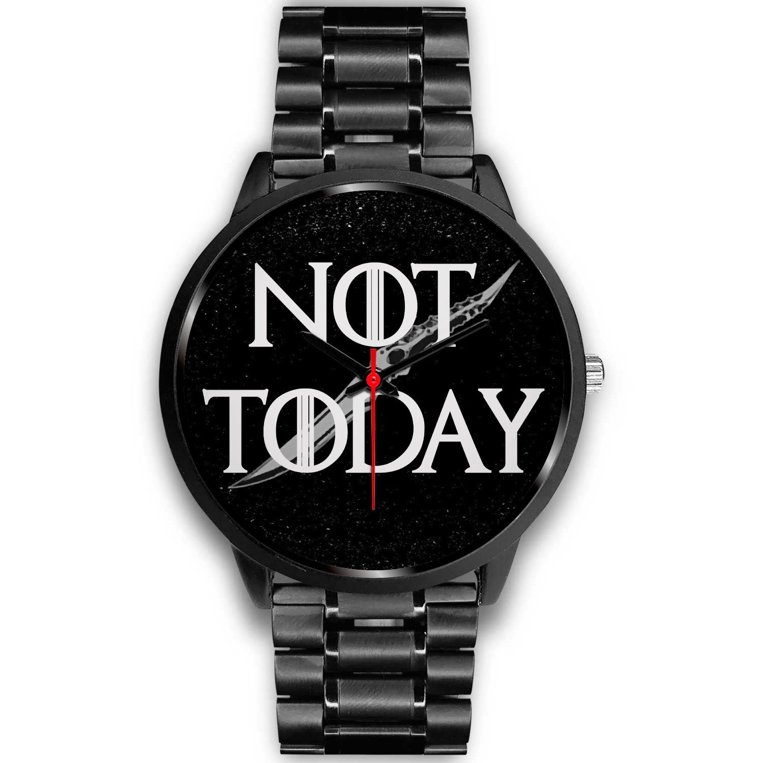 VIRA NOT TODAY BLACK STAINLESS STEEL WATCH