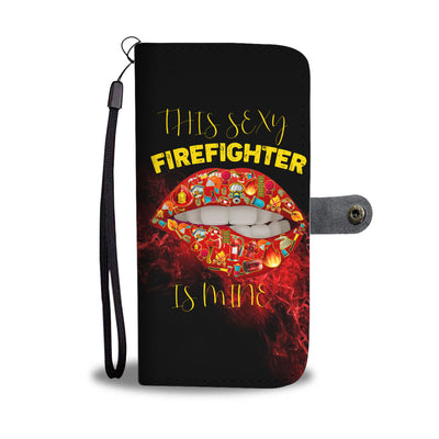 VIRA LEATHER-LIKE MATERIAL WALLET CASE FOR FIREFIGHTER LOVERS