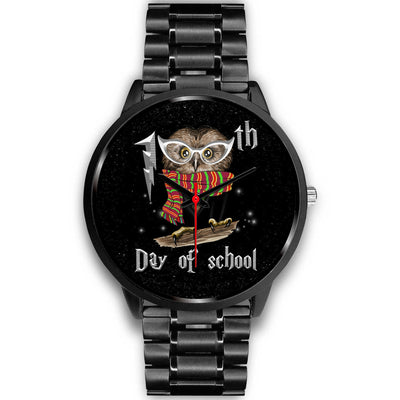 VIRA Black Stainless Steel Owl Watch For Awesome Teachers