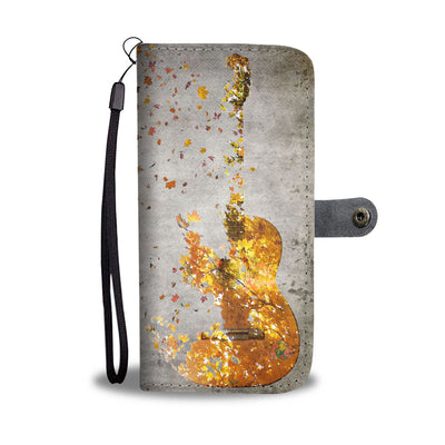 VIRA Maple Leaves Guitar Leather- like Wallet Case For Nature Lovers
