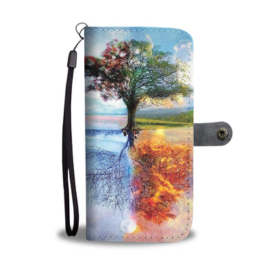 VIRA 4 Seasons Leather- like Wallet Case For Nature Lovers