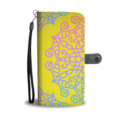 VIRA Colorful Pattern Leather- like Wallet Case For Art Lovers