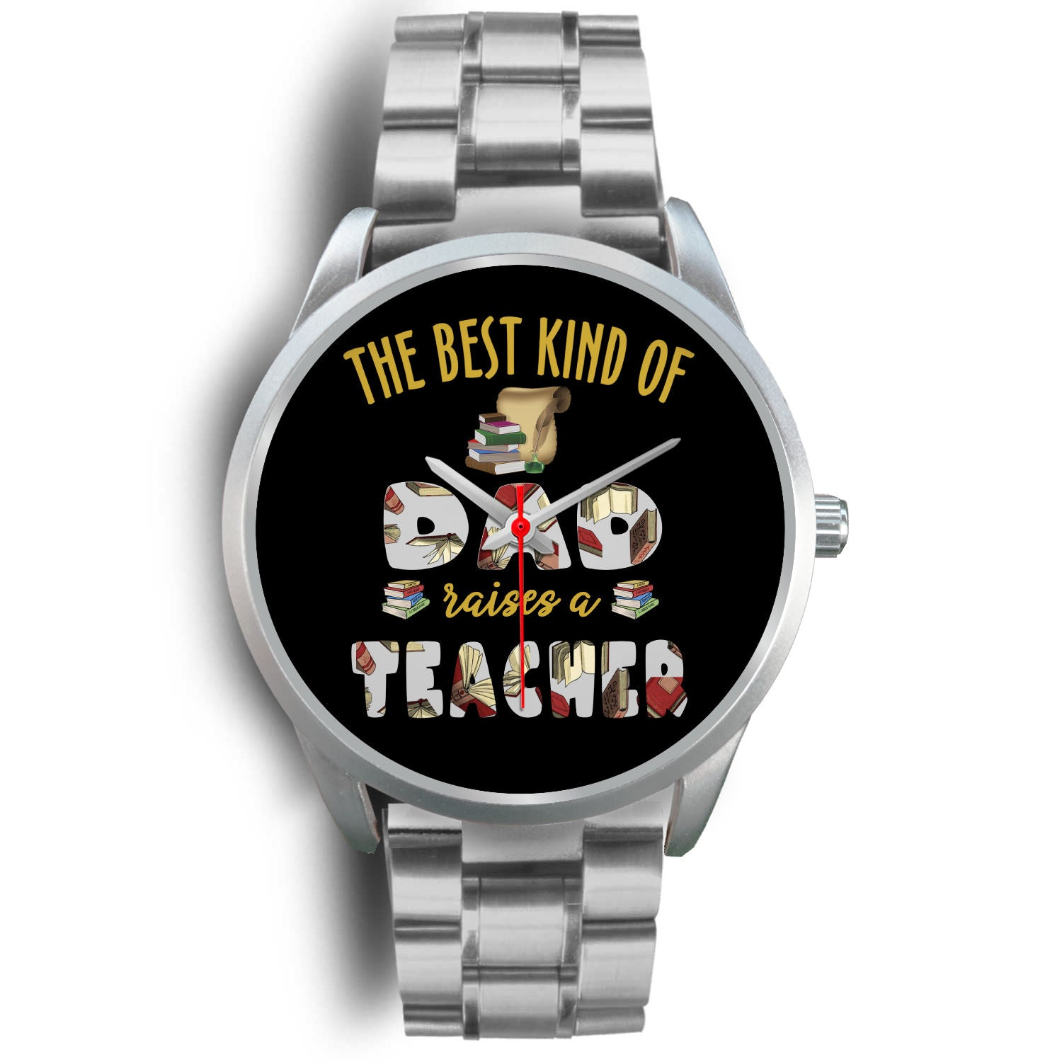VIRA Silver Stainless Steel Watch For Awesome Teachers & Dads - Best Gift Ever