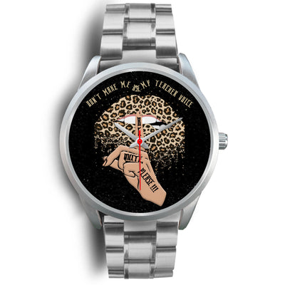 VIRA Leopard Sexy Lips Silver Stainless Steel Watch For Awesome Teachers