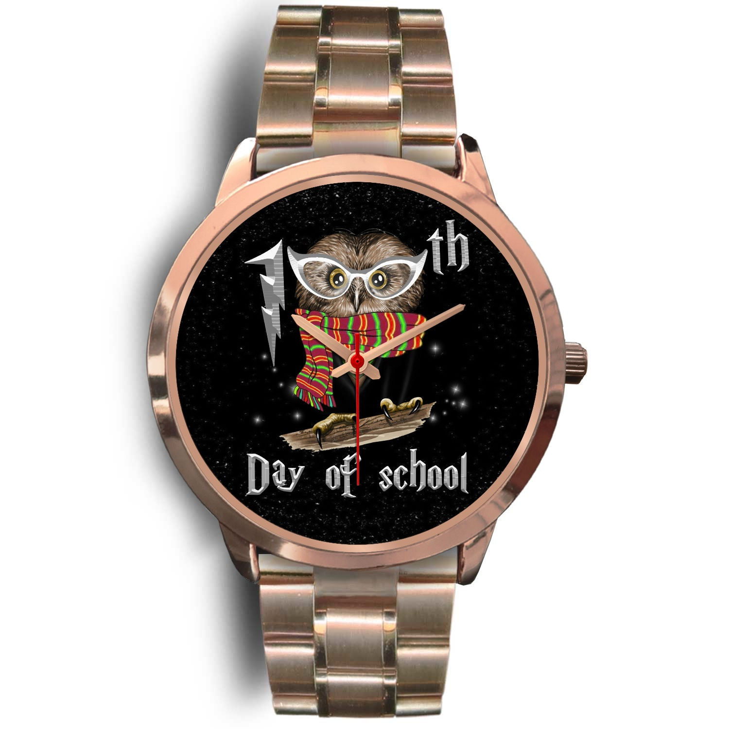 VIRA Owl Rose Gold Stainless Steel Watch For Awesome Teachers
