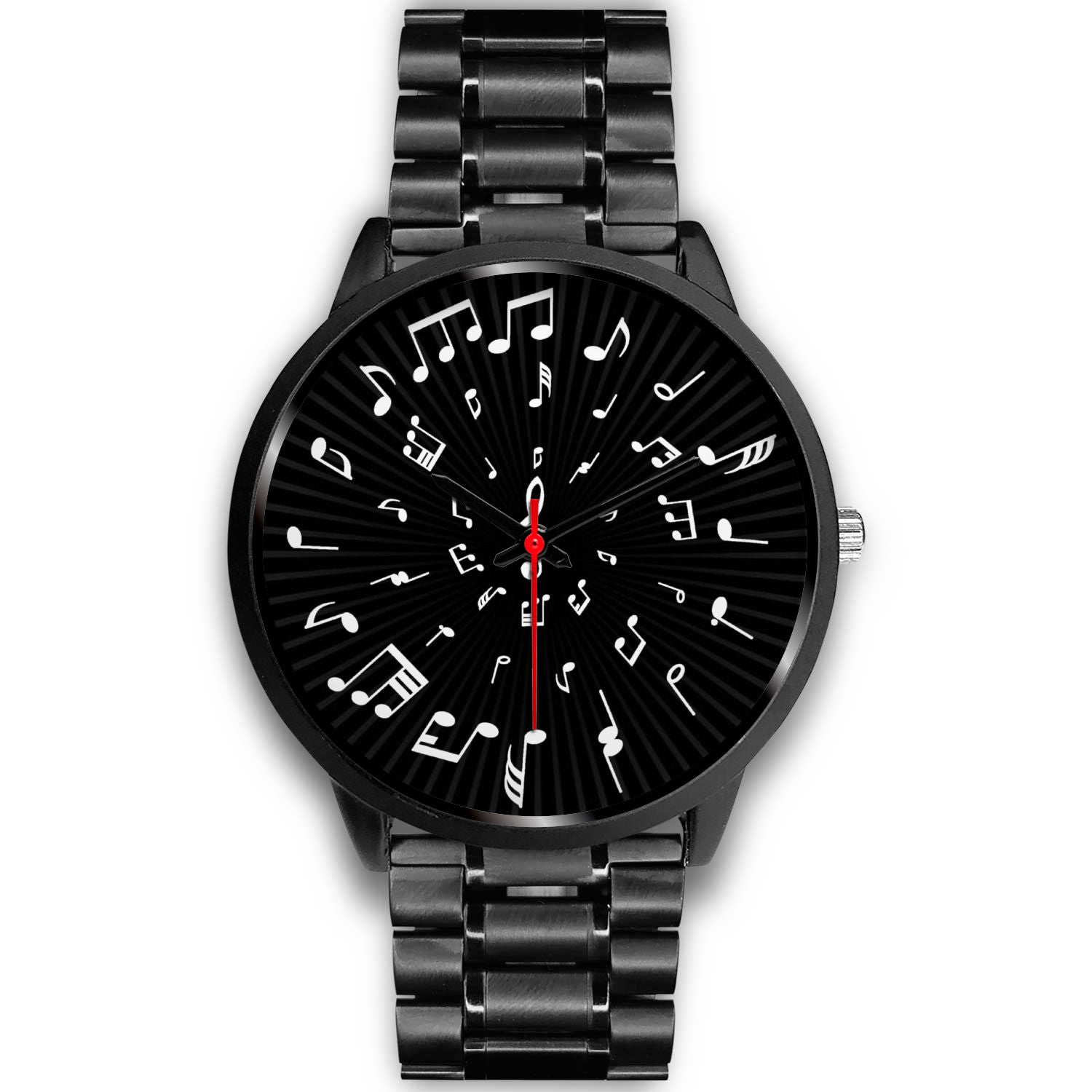 VIRA Musical Note Black Stainless Steel Watch For Awesome Teachers