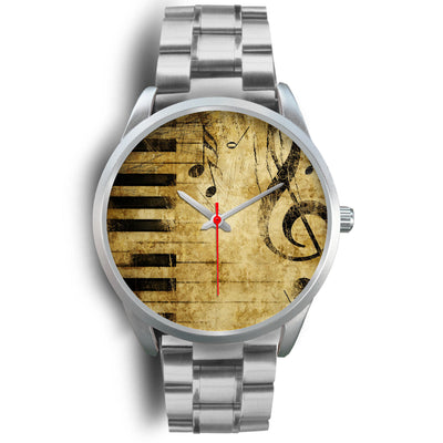 VIRA Music Vintage Silver Stainless Steel Watch For Awesome Teachers