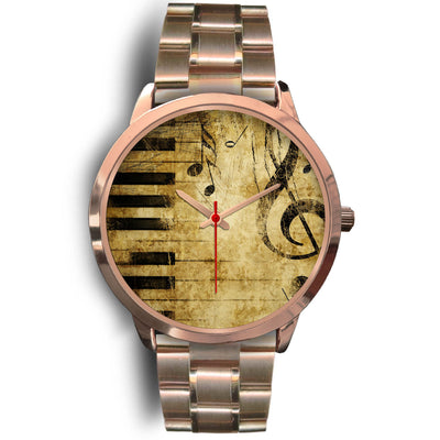 VIRA Music Vintage Rose Gold Stainless Steel Watch For Awesome Teachers