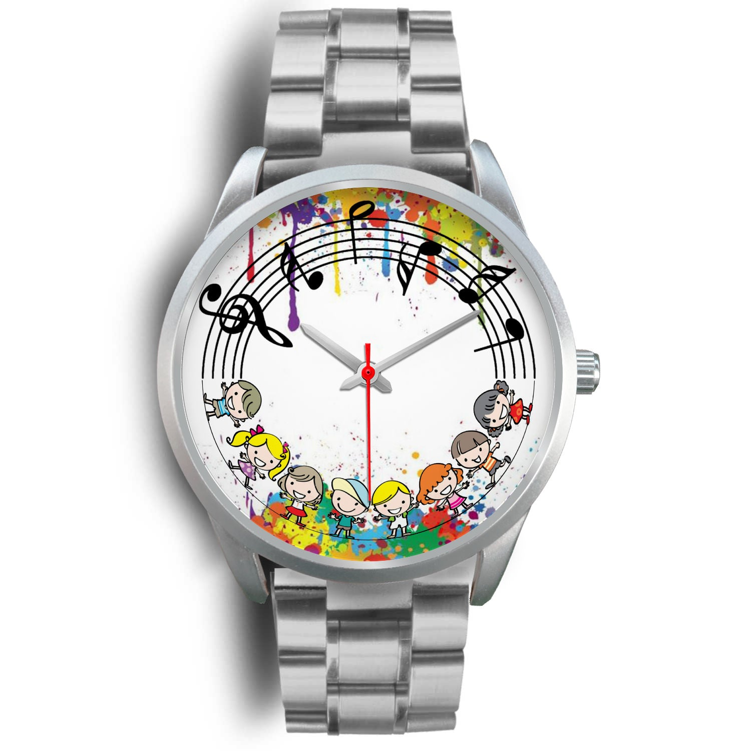 VIRA Music Kids Silver Stainless Steel Watch For Awesome Teachers