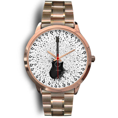 VIRA Guitar Rose Gold Stainless Steel Watch For Awesome Teachers