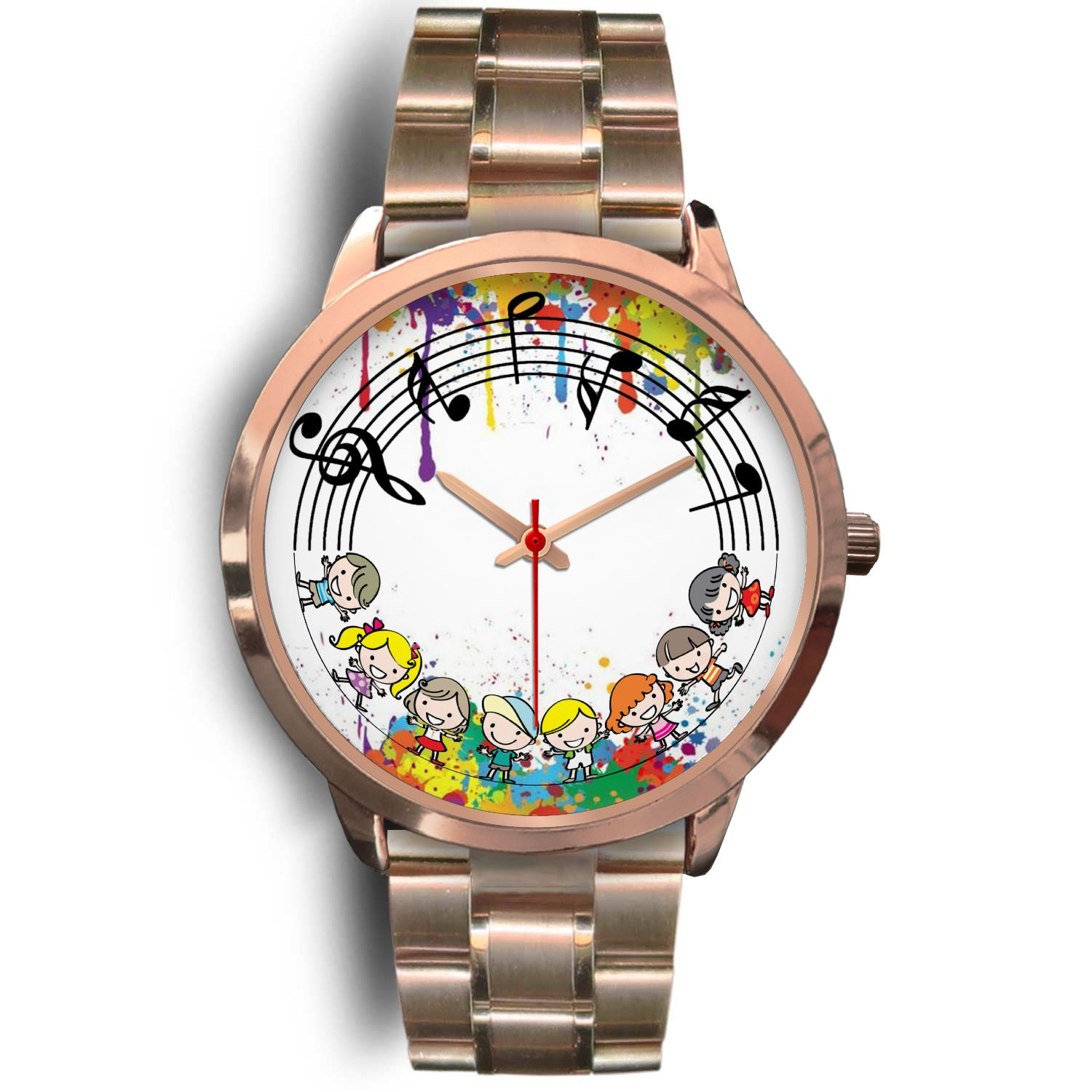 VIRA Music Kids Rose Gold Stainless Steel Watch For Awesome Teachers