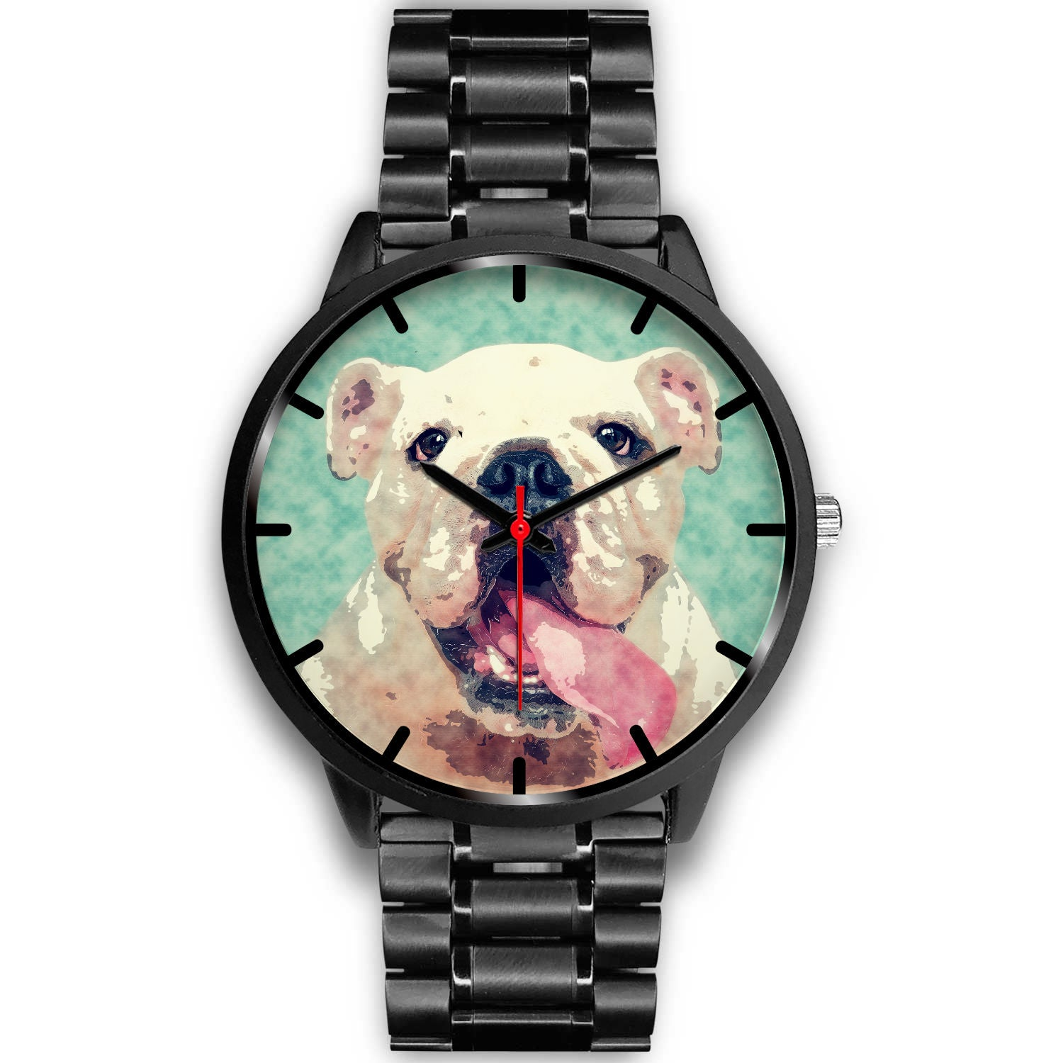 VIRA Black Stainless Steel Watch For Dog Lovers