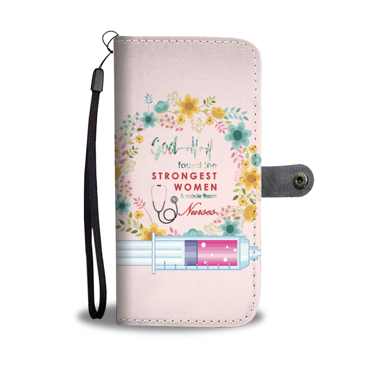 VIRA Pink Wallet Case For God Lovers & Great Nurses
