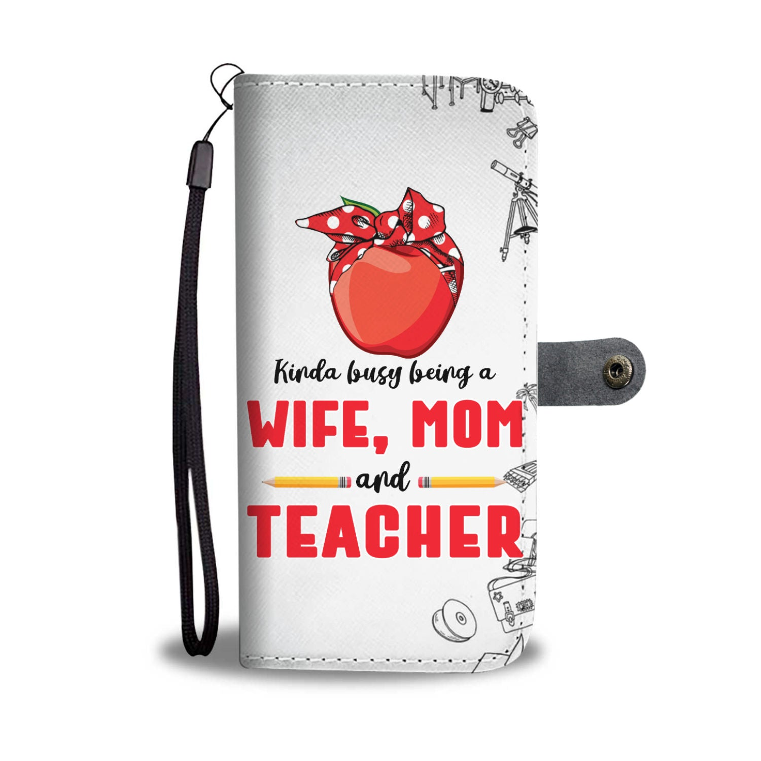VIRA Leather- like Wallet Case For Awesome Teachers & Moms