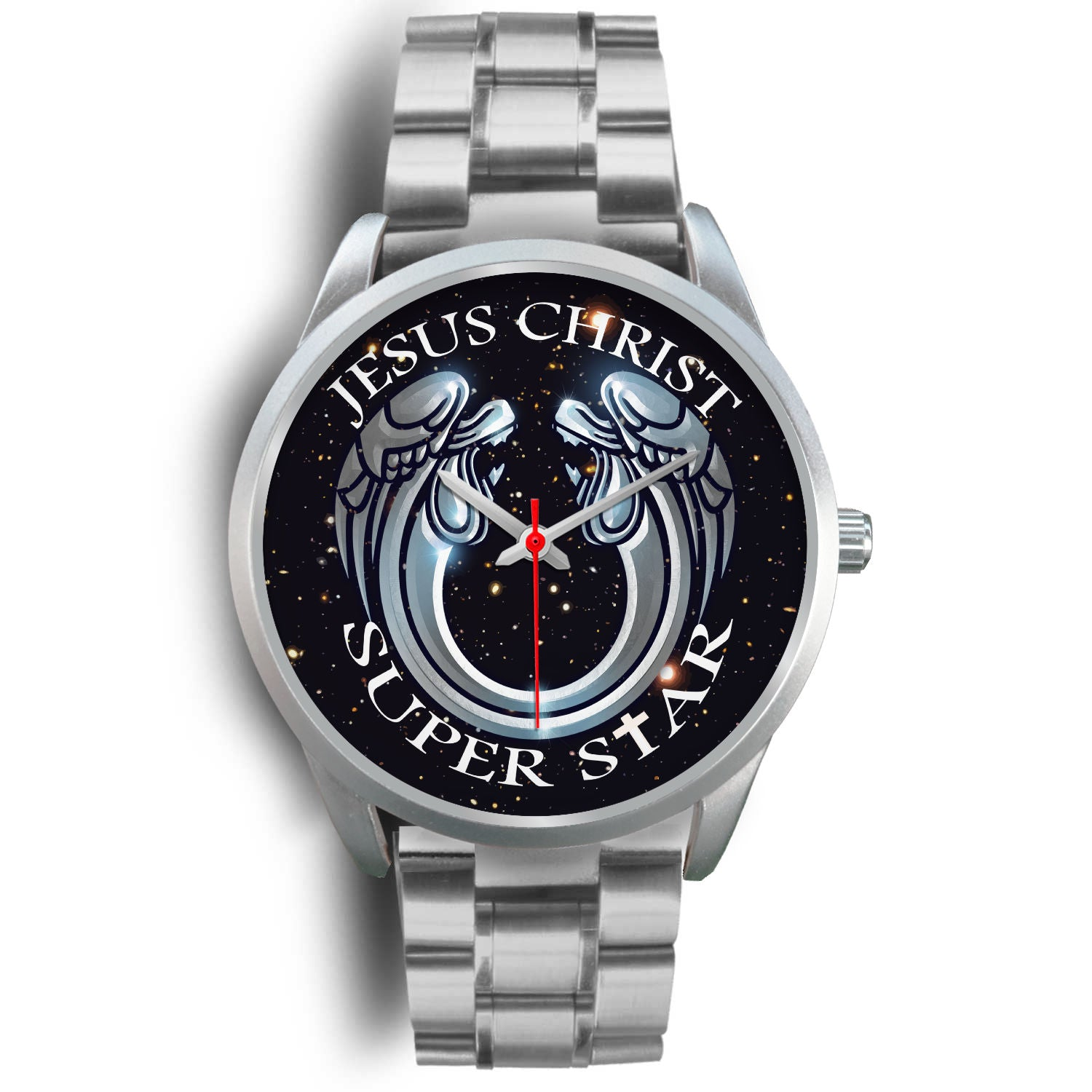 VIRA Silver Stainless Steel Watch For Jesus Christ Lovers