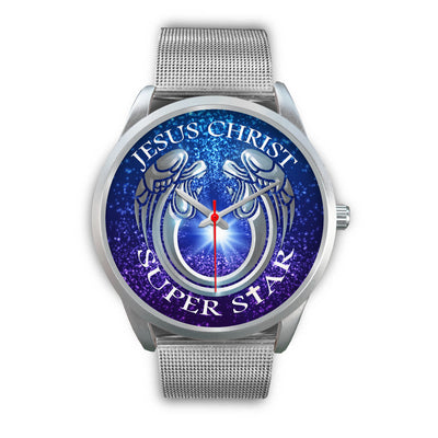 VIRA Silver Stainless Steel Watch For Jesus Lovers