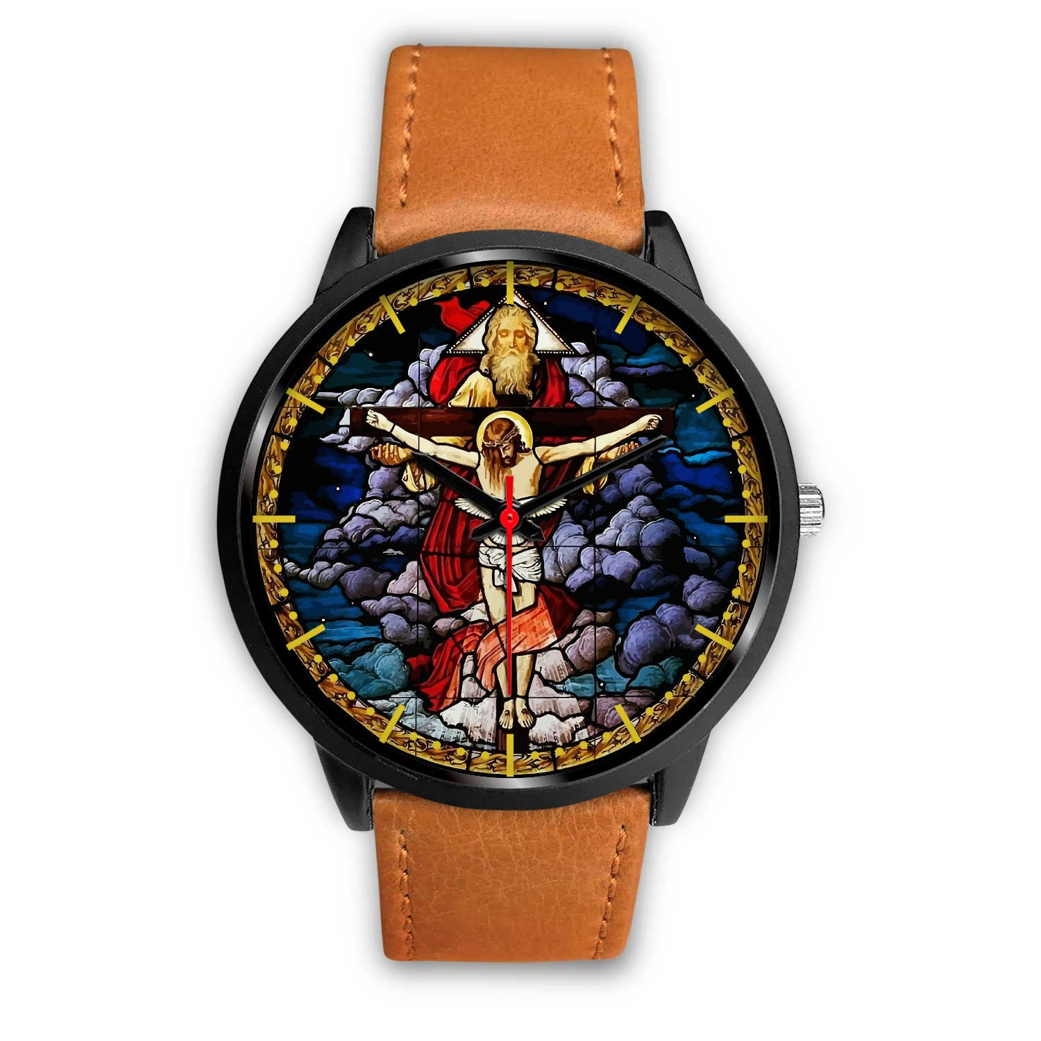 VIRA Awesome Black Stainless Steel For Jesus Lovers