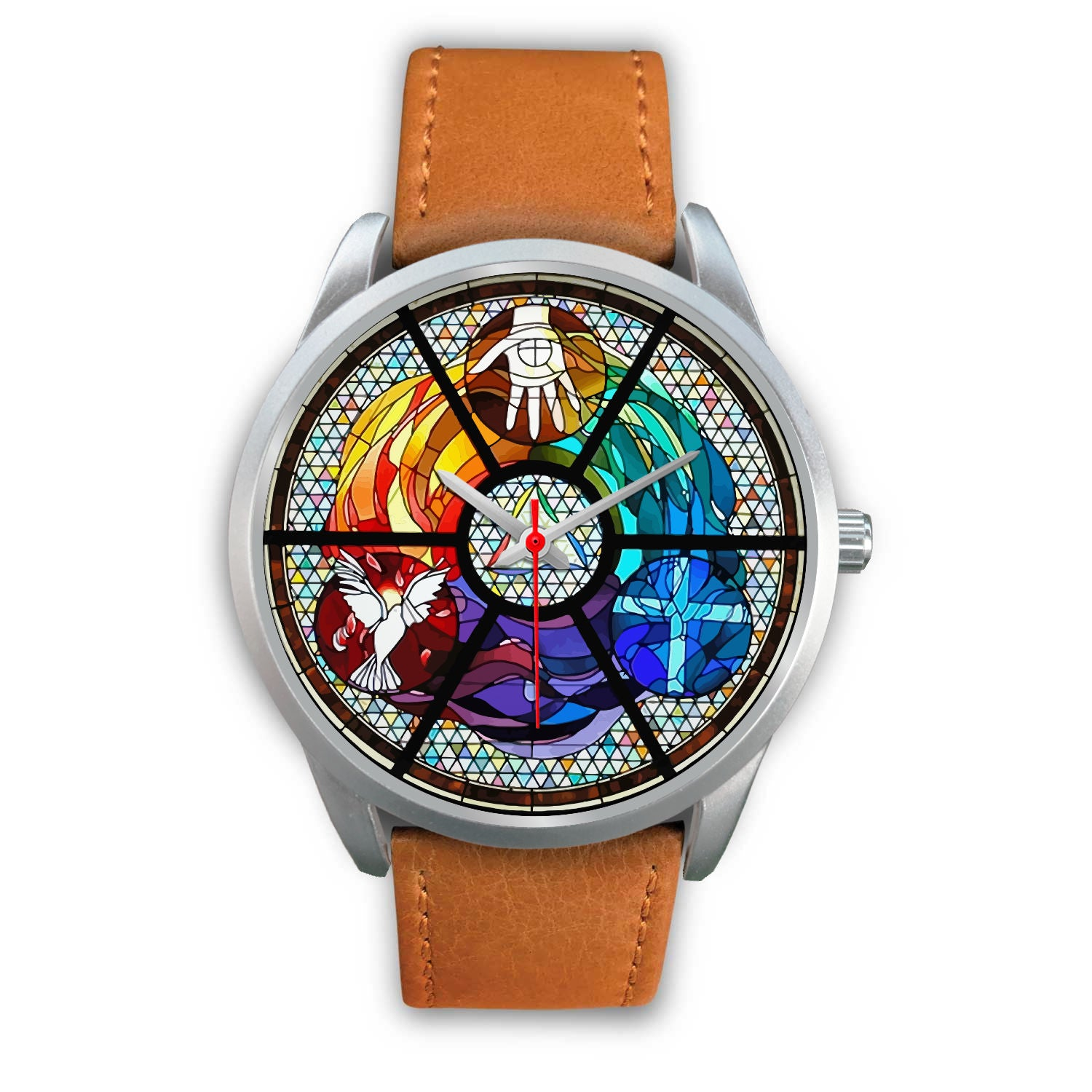 VIRA Awesome Silver Watch For Jesus Lovers