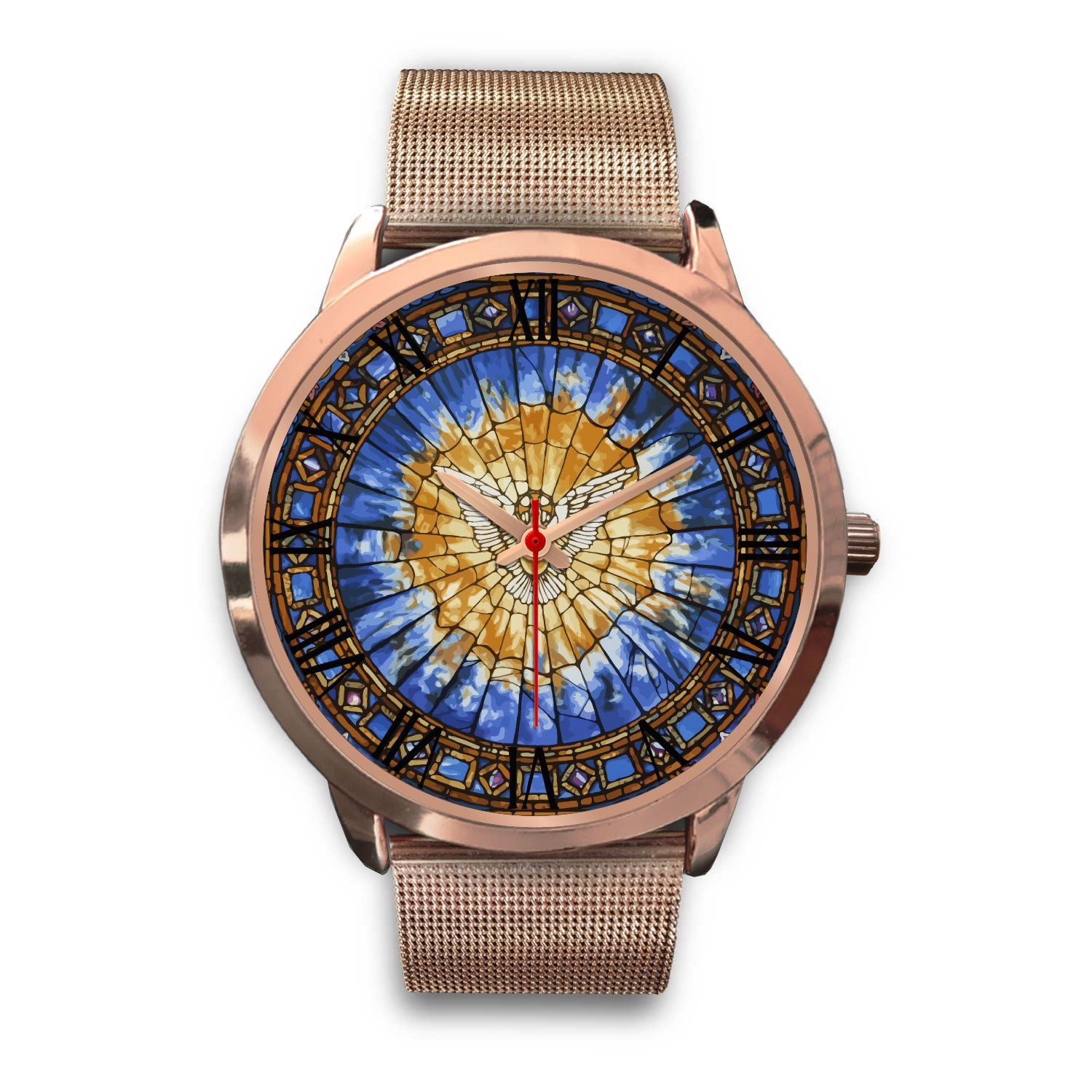 VIRA Awesome Rose Gold Watch For Jesus Lovers