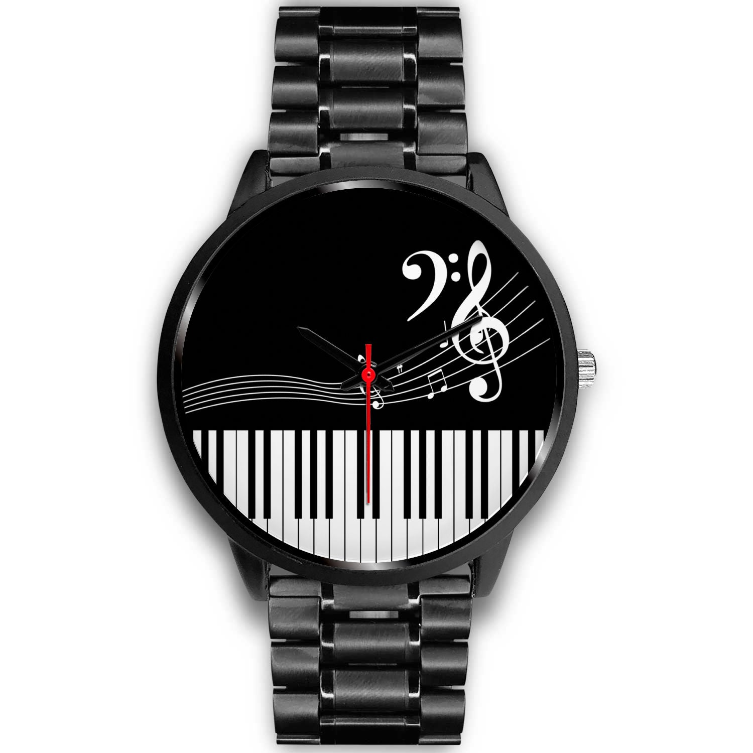 VIRA black stainless steel watch for awesome music teachers