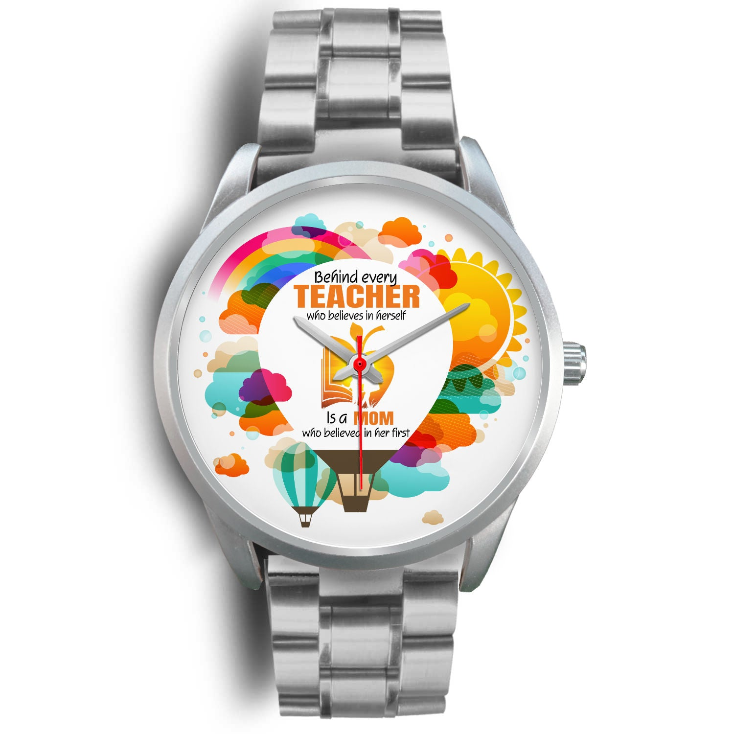 VIRA silver stainless steel watch for awesome teachers & moms