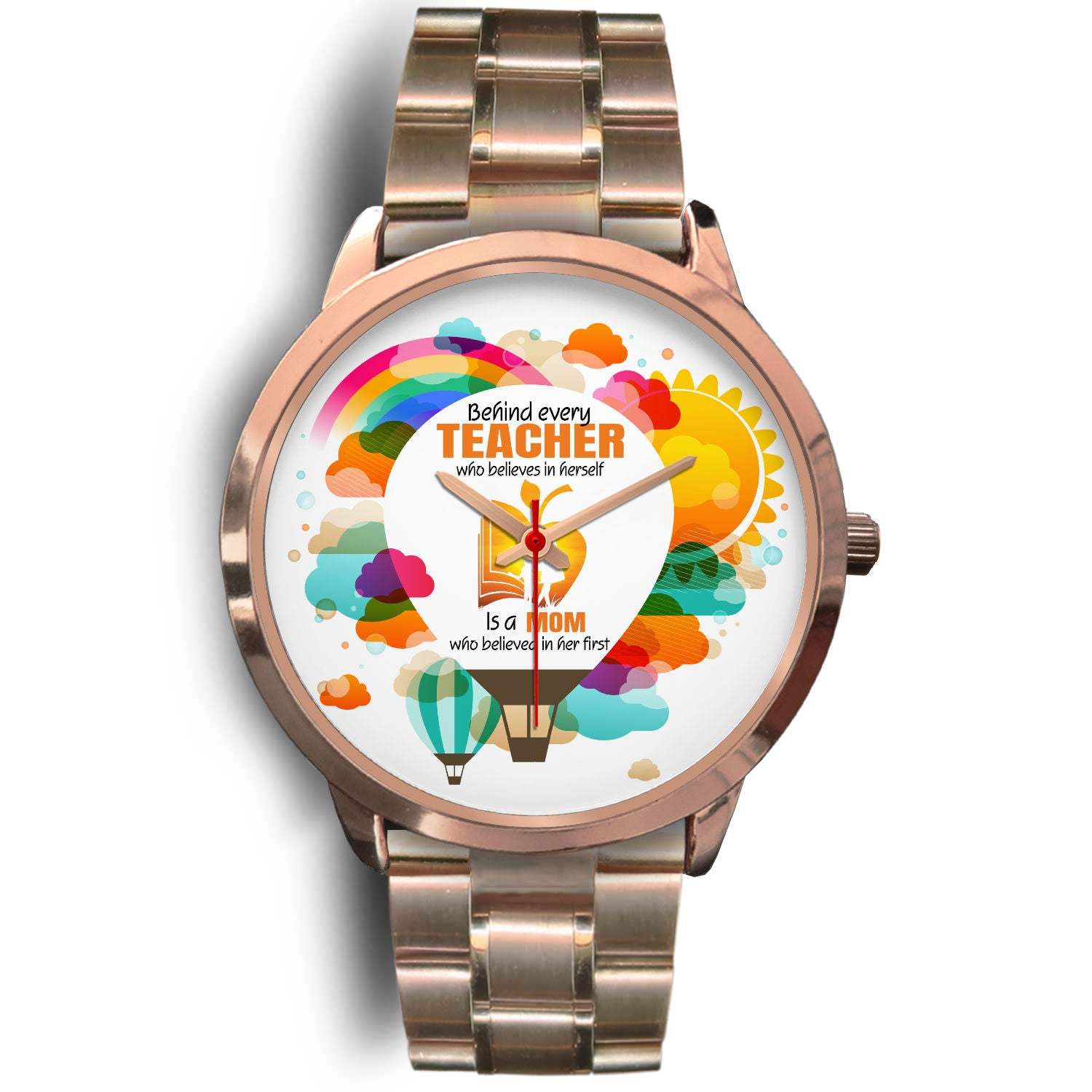 VIRA Rose gold stainless steel watch for awesome teachers & moms