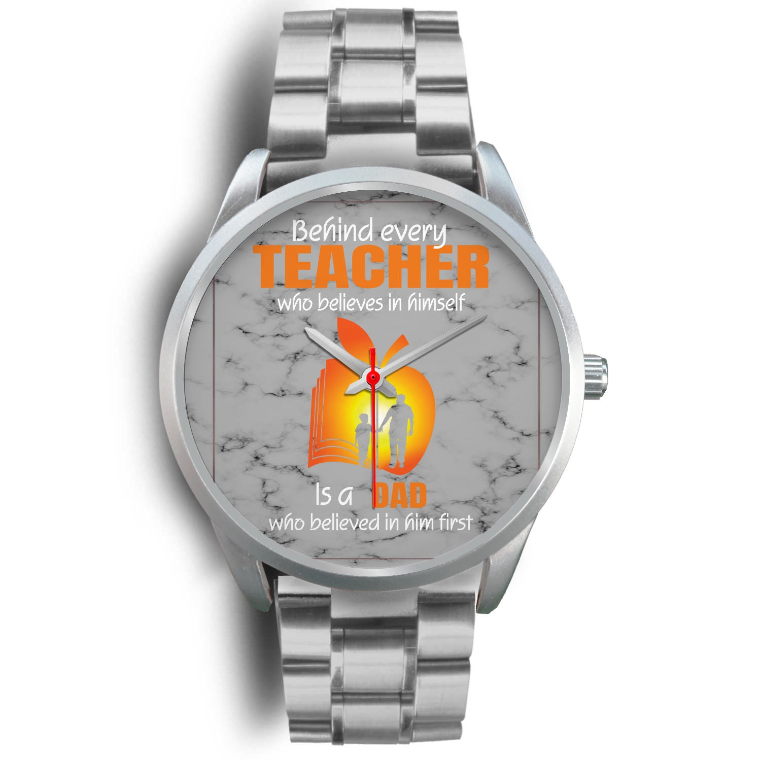 VIRA silver stainless steel watch for awesome teachers & dads