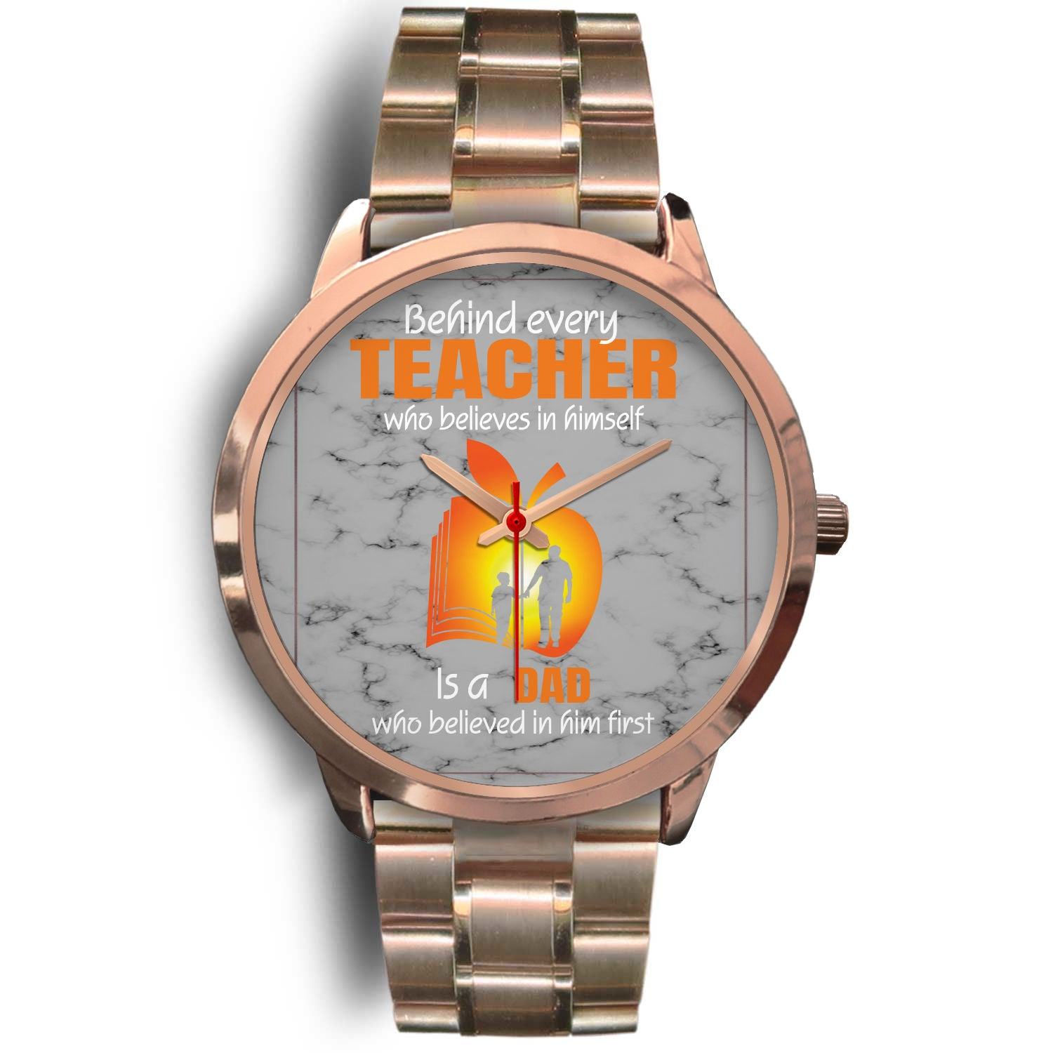 VIRA rose gold stainless steel watch for awesome teachers & dads