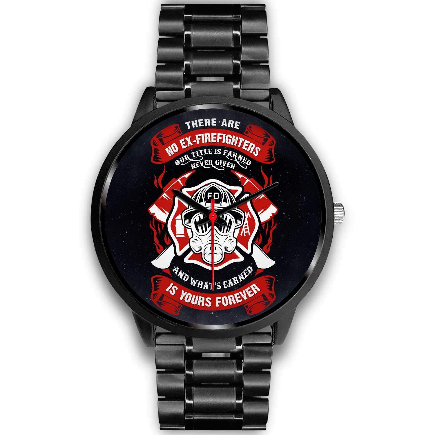VIRA  stainless steel BAND WATCH FOR FIREFIGHTER LOVERS